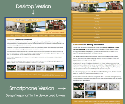 Responsive Web Design - Example 1